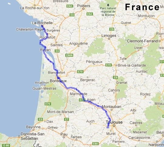from la rochelle to toulouse a 500 km training. Black Bedroom Furniture Sets. Home Design Ideas